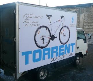 Логотип Torrent на транспорте